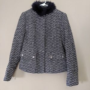 UD  Utex Design Womens Jacket with Faux Fur Size 8